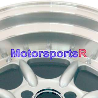 002 Silver Staggered Rims Wheels Deep Dish 90 00 05 Mazda Miata