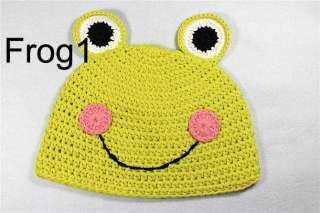 Cute Animal Crochet Knit Earflap Hat Baby Child Girl Boy Giraffe Frog