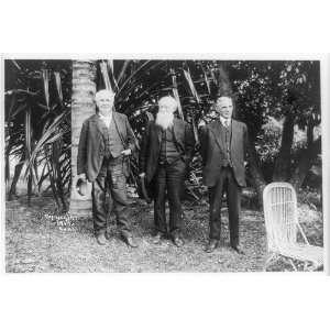 Thomas Edison,John Burroughs,Henry Ford posed,home,Ft Myers,Florida,FL