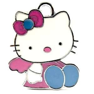 12X Light Pink and Blue Hello Kitty/Enamel Charm Pendant