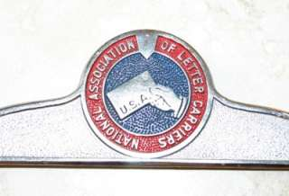 National Association of Letter Carriers License Plate Frame California