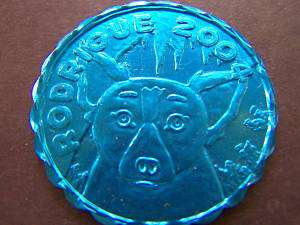 2004 Rodrigue BLUE DOG Mardi Gras Doubloon