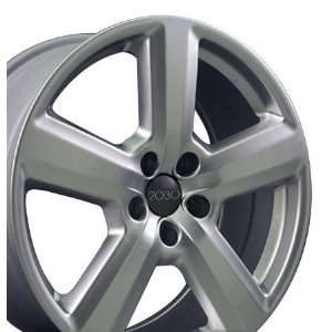 RS6 Style Wheel Fits Audi   Hyper Silver 18x8 Automotive