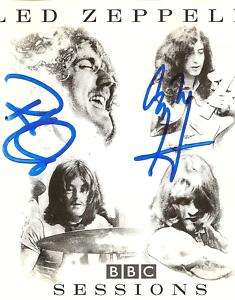 Robert Plant Jimmy Page Autograph Led Zeppelin