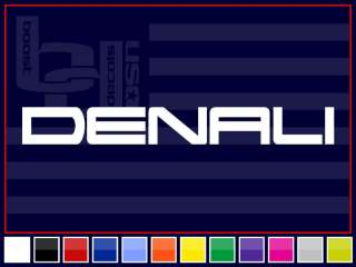 32 DENALI Windshield Banner Decal Sticker *SILVER*