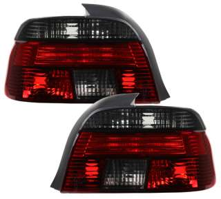 97 00 BMW E39 E 39 5 Series Tail Lights Red Smoke DEPO