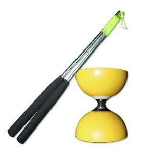 Bearing Diabolo (Y) with Firetoys Aluminium Hand Sticks Toys & Games