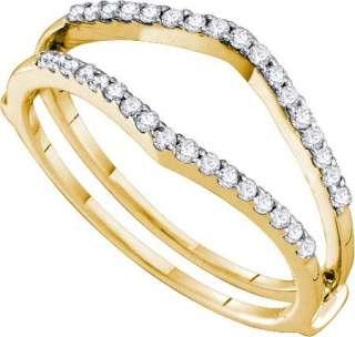 14K WHITE GOLD ENGAGEMENT RING ENHANCER WRAP GUARD DIAMOND 0.25 CTS