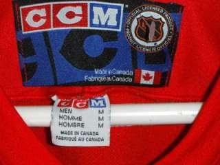 EC VTG CCM CANADA DETROIT RED WINGS NHL JERSEY SHIRT USA