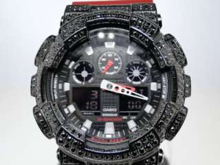New casio ga 100 g shock g shock mens black simulated diamond watch