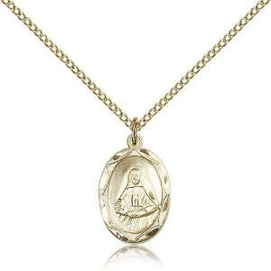 IceCarats Designer Jewelry Gift Gold Filled St. Frances Cabrini