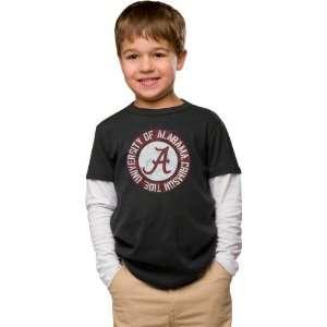 Alabama Crimson Tide Youth Charcoal Layered Long Sleeve T