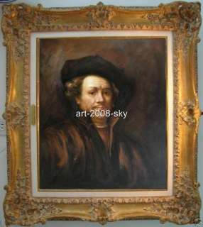 Portrait Oil painting artartist Rembrandton canvas