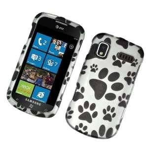 Dog Paw Prints Rubber Texture Samsung I917 Focus / I916 Cetus Snap on