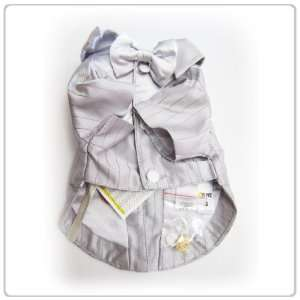 Pet Dog Clothing Silver Bow tie Suit  Small Size: Pet
