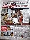 1940 GE General Electric Refrigerator Lemonade Wagon Ad