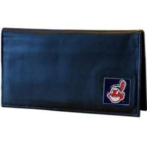 MLB Executive Cleve Indians High Quality Leather Checkbook