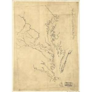 Civil War Map Outline map of eastern Virginia and the Chesapeake Bay