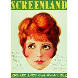 28cm x 44cm) (1905) 11 x 17 Screenland Magazine Cover 1920s Style B