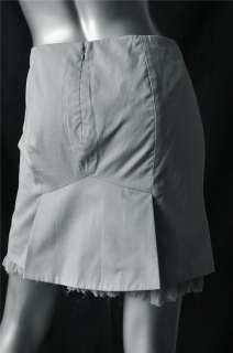 ALEXANDER MCQUEEN A Line Silk Ruffle Skirt NEW M 42