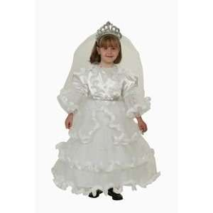 Fancy Bride Dress Child Costume Dress Up Set Size 4 6 Toys & Games