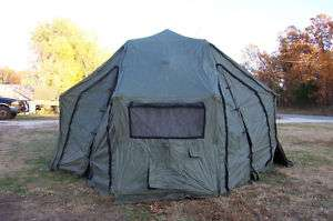 MILITARY TENT  DRASH ARMY 13x13 SURPLUS MODEL 1S (ONE S ) RARE