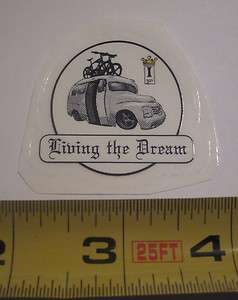 FABRICATION Living the Dream IF Bike Bicycle Frame STICKER DECAL