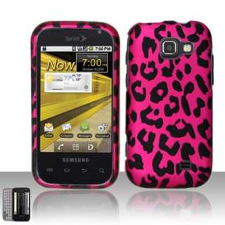 Hot Pink Leopard Txt Protector Hard Case Cover Samsung Transform M920