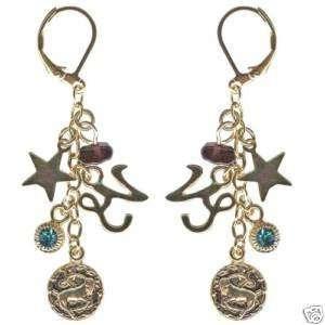 Kirks Folly Crystal Star Gazer Earrings Capricorn Zodiac