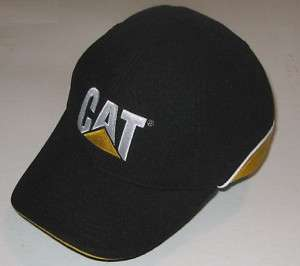 /Gold CAT Logo Baseball Cap Caterpillar Promo Mesh Hat Unisex