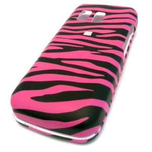Samsung R451c Pink Zebra Rubberized Design HARD Skin Cover