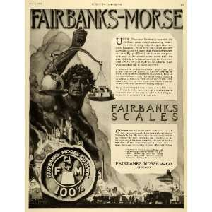 1920 Ad Scales Industrial Sector Factory Fairbanks Morse Logo Thaddeus