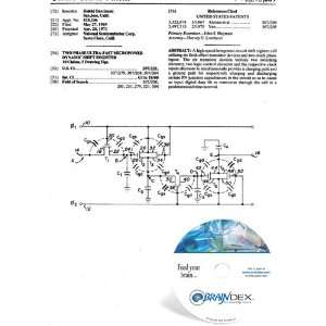 Patent CD for TWO PHASE ULTRA FAST MICROPOWER DYNAMIC SHIFT REGISTER