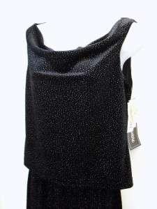 NWT Long Black Glitter Top Skirt Outfit DRESS BARN ~ 6