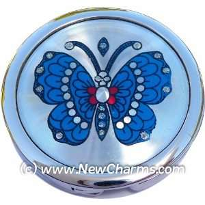 Blue Butterfly Foldable Purse Hanger Handbag Table Hook Jewelry