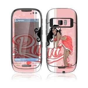 Nokia C7 Decal Skin   Puni Doll Pink