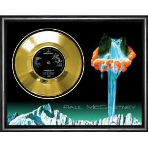Paul McCartney Waterfalls Framed Gold Record A3 Musical