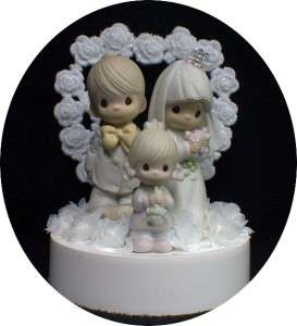 Wedding Cake Topper Precious figures Bride Groom Moments Family