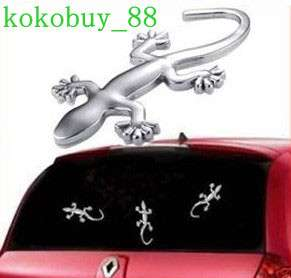 New Cool 3D Gecko Shape Chrome Badge Emblem Car Sticker Decal