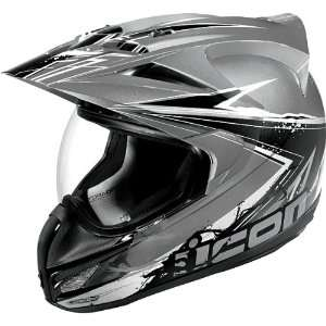 Icon Variant Dual Sport Motorcycle Helmet Salvo Silver 2X