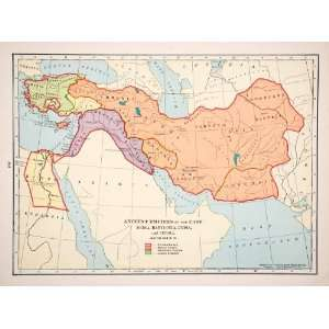 Babylonian Lydian Persian Empire   Original In Text Lithograph: Home
