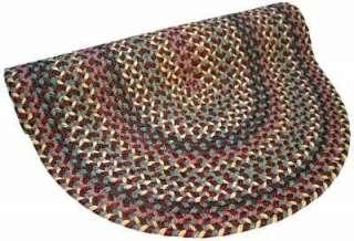 Thorndike Mills Pioneer Valley II Indian Summer Red Blue Braided Rug