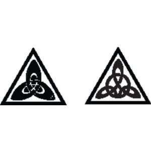Metal Clay Design Block, Equilateral Triangle, Celtic