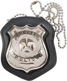 NYPD Style Law Enforcement Police/Security Leather Badge Holder w