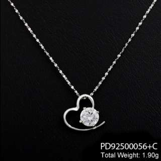 italy necklaces in 925 sterling silver with lovley heart pendants