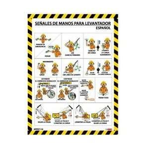 SPPST110   Poster, Spanish, Crane Hand Signals, 24 X 18