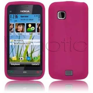 Funda Silicona para Nokia C5 03 color ROSA FUCSIA PINK ¡Oferta 2º