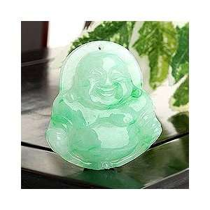 Perfect Gift   High Quality Smile Face Buddha Pendant (Jade A) (2491)
