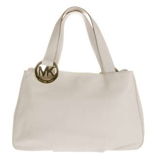 GenuineMichael Kors Fulton Vanilla White Leather Tote Bag 38S1XFTT3L