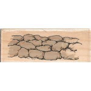 Rock Wall Holly Pond Hill Wood Mounted Rubber Stamp